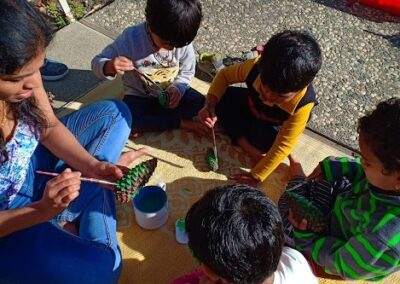 Kids busy in art, craft and special engagement programs